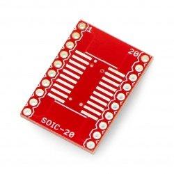 20pinový adaptér SOIC na DIP - SparkFun BOB-00495