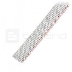 Plochý kabel, 10 šedých (50 cm) vodičů IDC, rozteč 1,27 mm