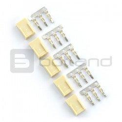 Konektor typu XXX - zásuvka 3x1 + piny - 5 ks.