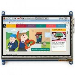 """TFT LCD kapacitní dotyková obrazovka 7 """"1024x600px HDMI + USB pro Raspberry Pi 2 / B +"""