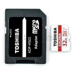 Paměťová karta Toshiba Exceria micro SD / SDHC 32 GB UHS 1 třída 10 s adaptérem