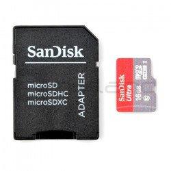 Paměťová karta SanDisk Ultra micro SD / SDHC 16 GB 533x UHS-I třídy 10 s adaptérem
