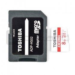 Paměťová karta micro SD / SDHC Toshiba 8 GB UHS 1 třída 10 s adaptérem