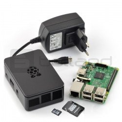 Sada Raspberry Pi 3 model B + pouzdro + originální napájecí zdroj + karta se systémem