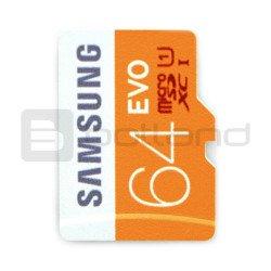 Paměťová karta Samsung EVO micro SD / SDHC 64 GB 320 x UHS-I třída 10