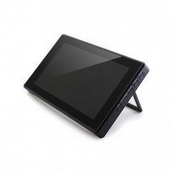 IPS LCD kapacitní dotyková obrazovka 7 '' (H) 1024x600px HDMI + USB pro Raspberry Pi 3B + / 3B / 2B / Zero černé pouzdro