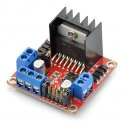 L298 - dvoukanálový budič motoru - modul