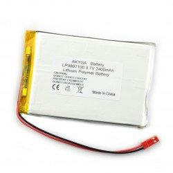 Akyga 2400mAh 1S 3,7 V Li-Pol baterie - konektor JST-BEC + zásuvka