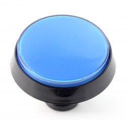 Velké tlačítko 6 cm - modré - šikmé