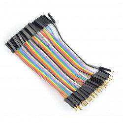 Propojovací kabely female-male 10cm - 40ks.