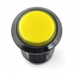 Arkádové tlačítko 3,3 cm - černé se žlutým podsvícením