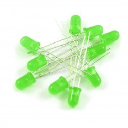 LED 5mm zelená - 10ks