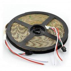 RGB LED pásek WS2811 - digitální, adresovaný - IP65 30 LED / m, 7,2 W / m, 12V - 5m