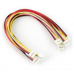 Sada 5 4kolíkových kabelů Grove female-female - 20 cm se západkou