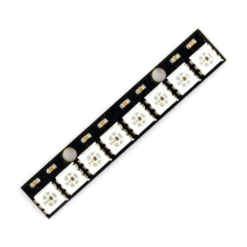 RGB LED pásek WS2812B 5050 x 8 LED - 53 mm