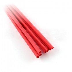 Smršťovací bužírka 1,6 / 0,8 červená - 10 ks.