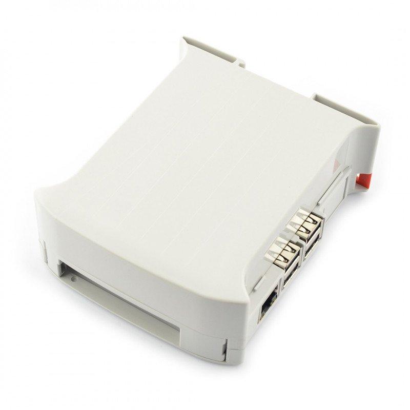 Pouzdro Raspberry Pi 3B / 2B / B + / A + na DIN lištu - KIT 45