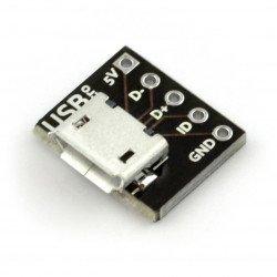 MicroUSB typ B 5 pin - konektor pro kontaktní desku - MSX