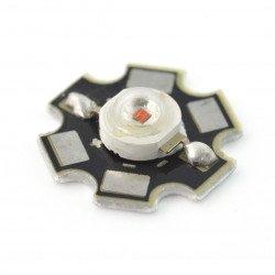 1 W IR Power LED Star - infračervené 940 nm s chladičem