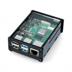 Pouzdro Raspberry Pi Model 4B - černé a průhledné