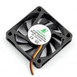Ventilátor 12V 60x60x10 posuňte 3 vodiče