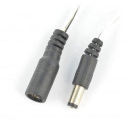 Sada zásuvky + zástrčka DC 5,5 / 2,1 mm s kabelem 60 cm
