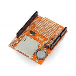 DataLogger Shield V1.0 se čtečkou karet SD pro Arduino
