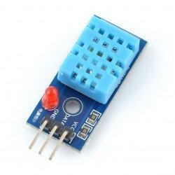 Čidlo teploty a vlhkosti DHT11 - modrý modul