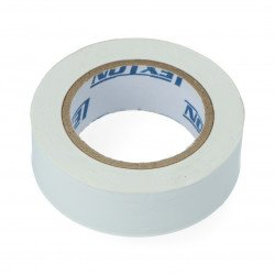 Izolační páska 19 mm x 10 m bílá