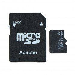 Paměťová karta microSD 64 GB třídy 10 s adaptérem