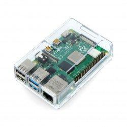Pouzdro pro Raspberry Pi 4 - ABS - průhledné