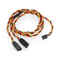 """Kabel, rozdělovač pro serva """"Y"""" - 60 cm kroucený (JR)"""