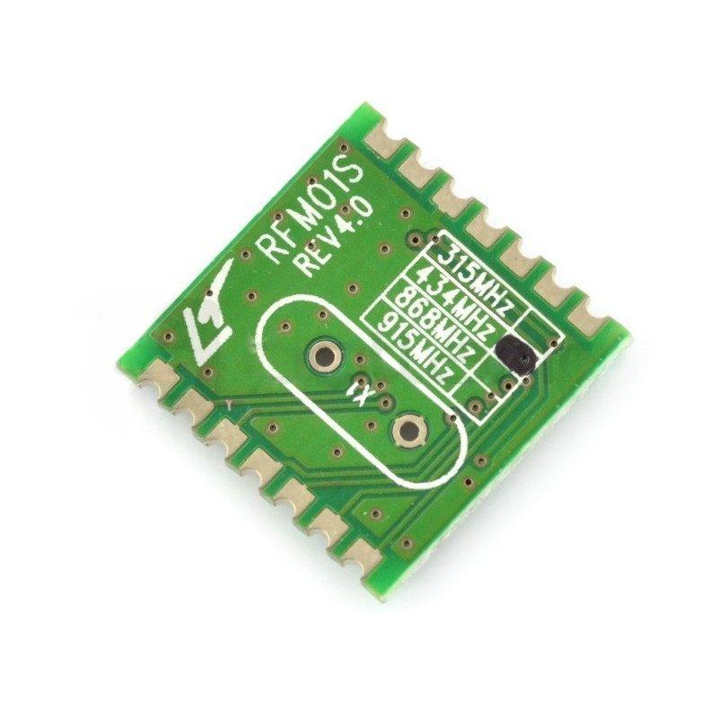 Rádiový modul RFM01-433S2 433MHz - SMD přijímač