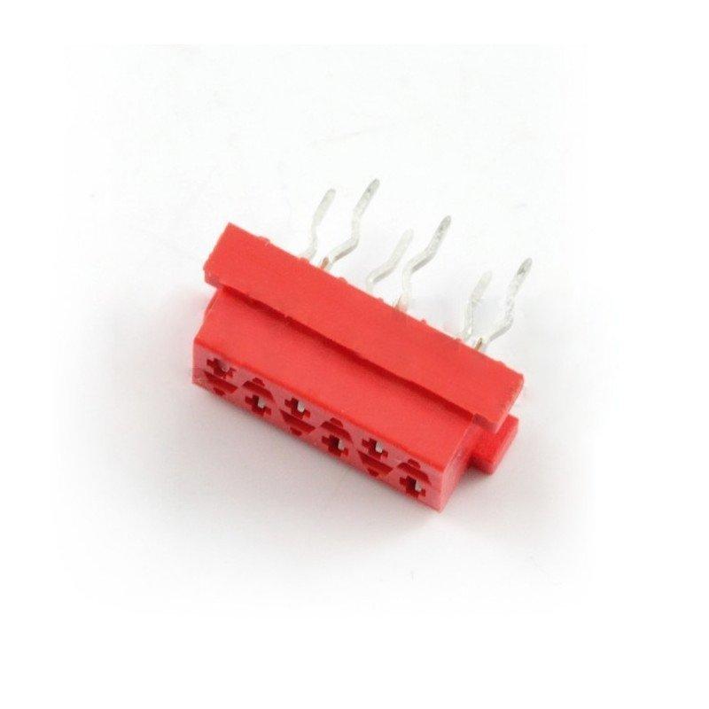 Konektor Micro-Match - 6pinová zásuvka