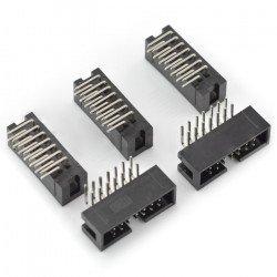 IDC zástrčka 14 pin úhlová - 5 ks