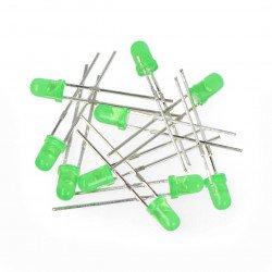 LED 3mm zelená - 10ks