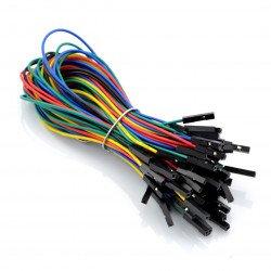 Propojovací kabely samice-samice 20 cm barevné - 50 ks