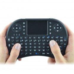 Bezdrátová klávesnice + touchpad Mini Key - černý