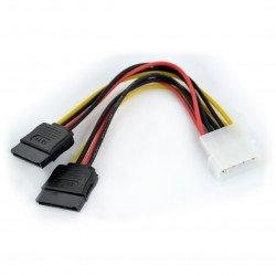 Napájecí kabel Molex - 2x SATA - 15cm