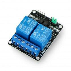Reléový modul Iduino 2 kanály s optoizolací - kontakty 10A / 250VAC - cívka 5V