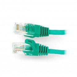 Patchcord Ethernet UTP 5e 0,5 m - zelený