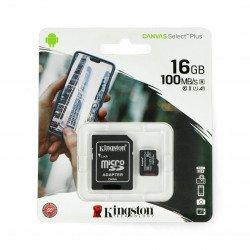 Paměťová karta Kingston Canvas Select Plus microSD HC 16 GB 100 MB / s + adaptér