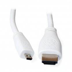MicroHDMI - kabel HDMI - originální pro Raspberry Pi 4 - 2 m