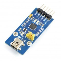 Převodník USB-UART CP2102 - miniUSB zásuvka