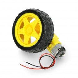 Kolo + motor 65x26mm 5V s převodem 48: 1 + dráty