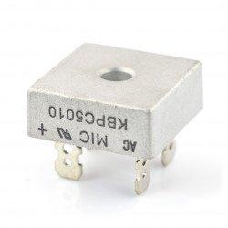 Můstkový usměrňovač KBPC5010 - 50A / 1000V s konektory