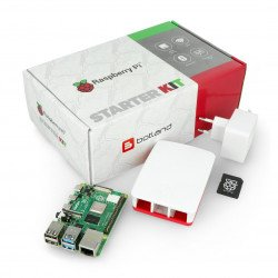 Sada Raspberry Pi 4B WiFi 1 GB RAM - oficiální - s grafitovým pouzdrem