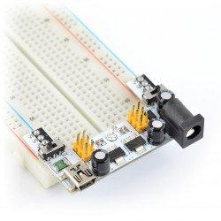 Napájecí modul pro kontaktní desky XD-42 - 3,3 V 5 V.