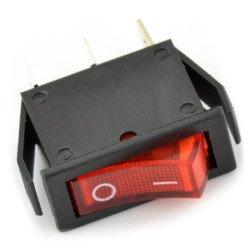 vypínač - malý červený