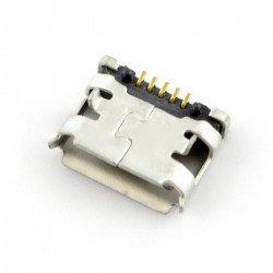 Zásuvka microUSB typu B - SMD s výstupky